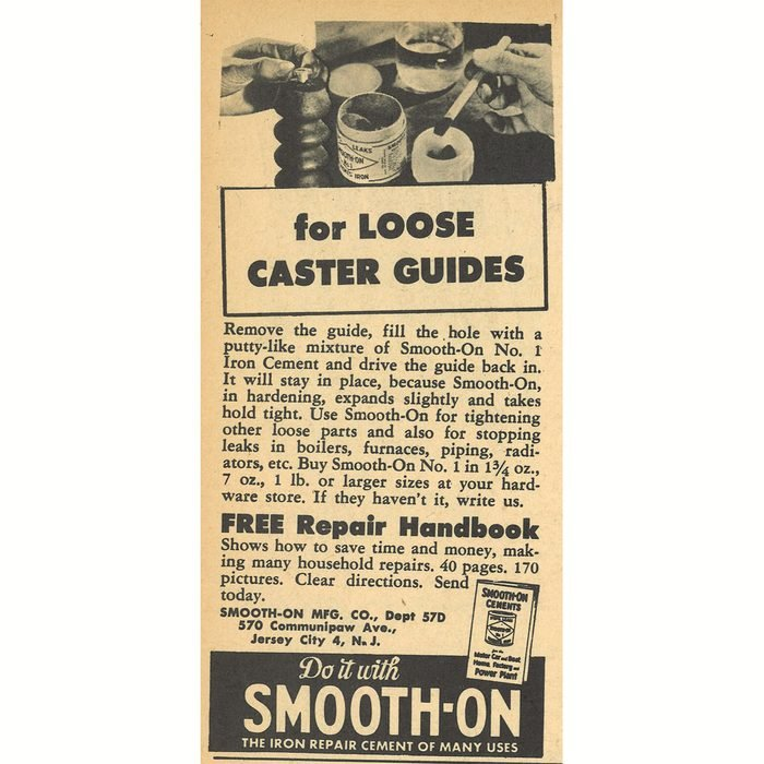 An ad for smooth on cement repair   Construction Pro Tips