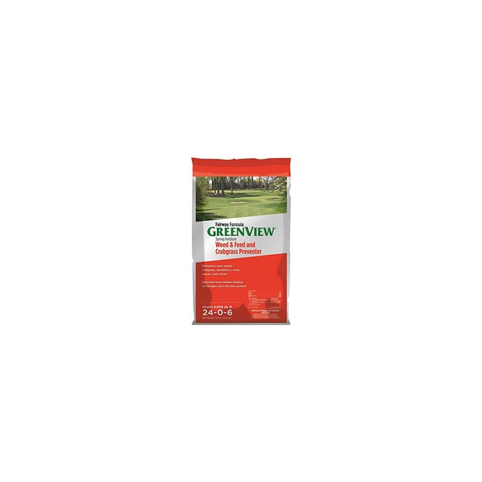 Greenview weed and feed crabgrass preventer