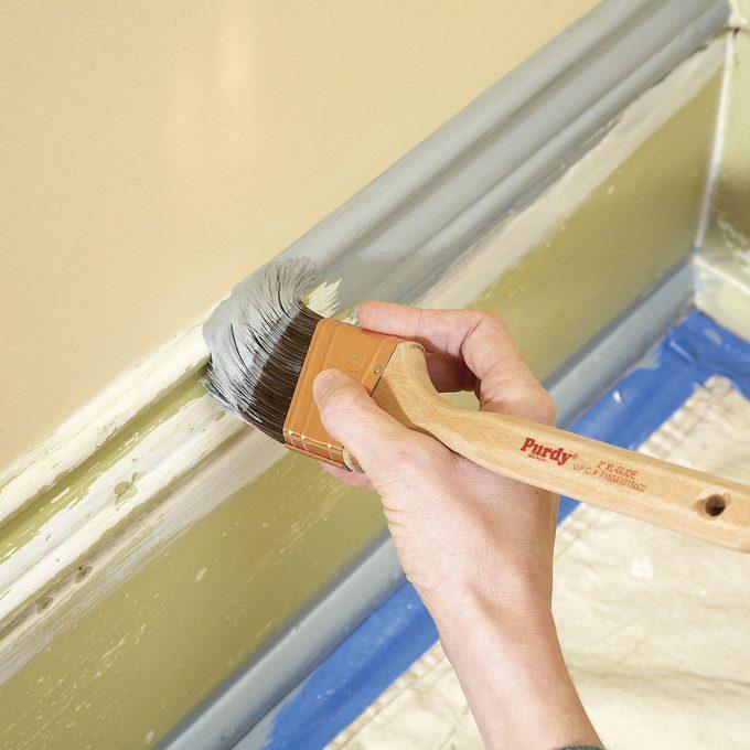 paint brush cutting in trim