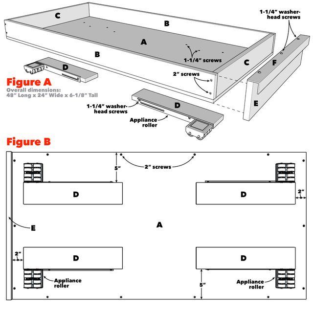 Under bed Storage Tech Art 1200
