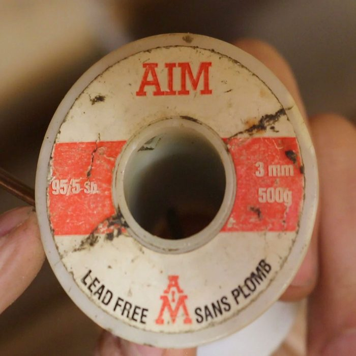 Spool of solder that is lead free | Construction Pro Tips