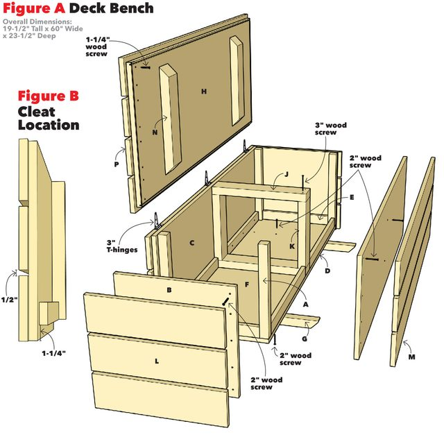outdoor storage bench project plans