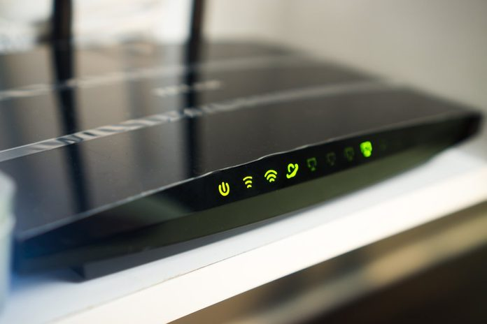 Dual band wifi router indication