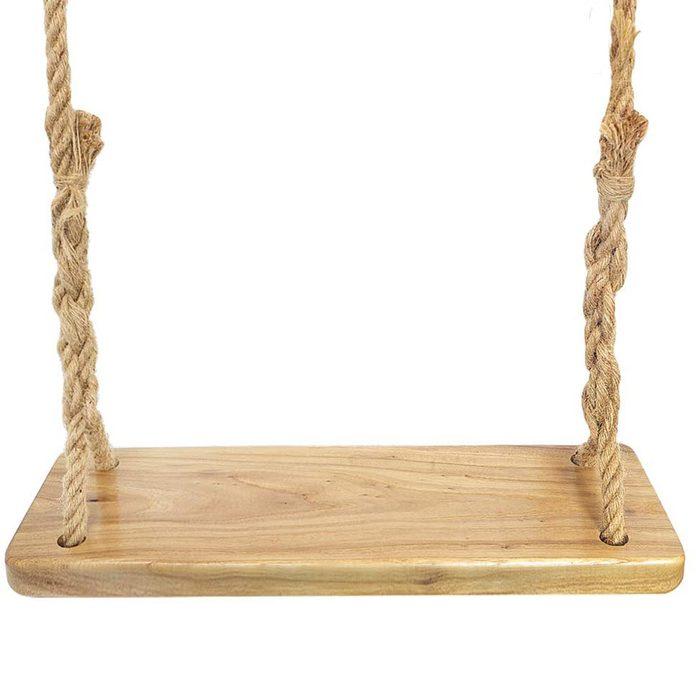 wooden rope swing