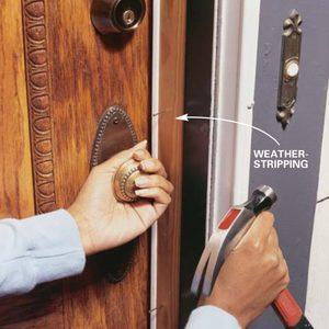 Installing Weather Stripping & Door Sweeps