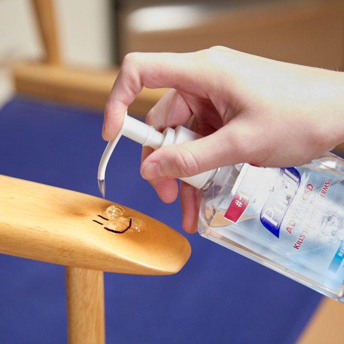 HH hand sanitizer remove permanent marker