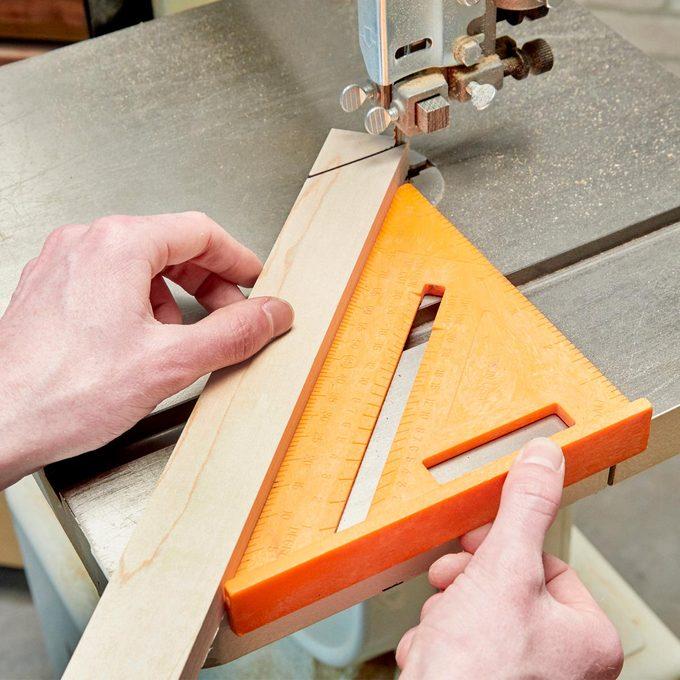 45-degree Bandsaw Cuts
