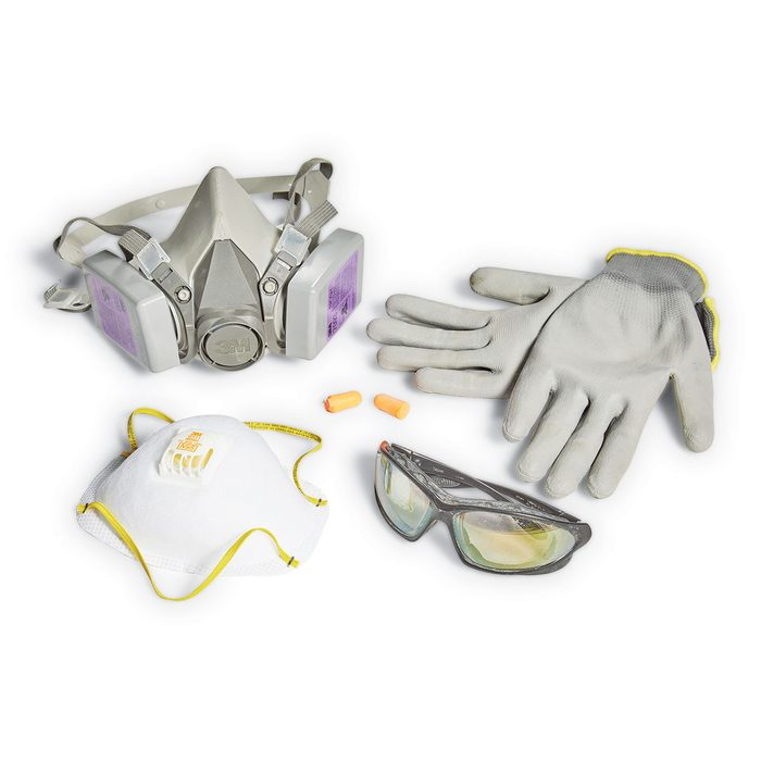 Safety gear for grinding concrete   Construction Pro Tips