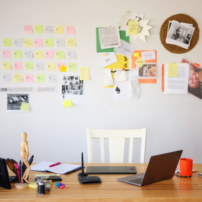 Home Based Office wall organized Gettyimages 1138201792