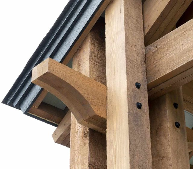 kitchen pavilion shed timber framing simplified