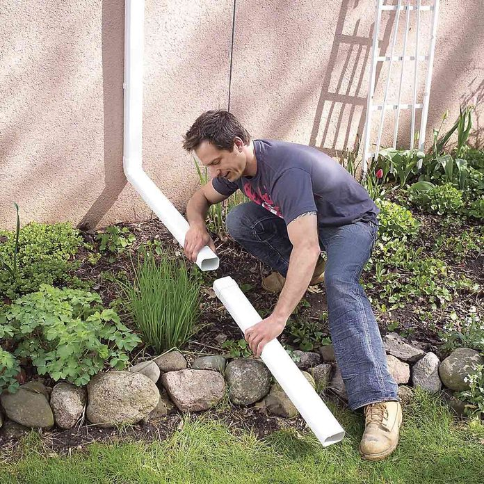 Extend the Downspout: Downspout drainage solutions