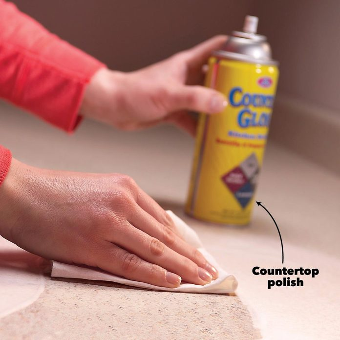 remove stains from plastic countertops