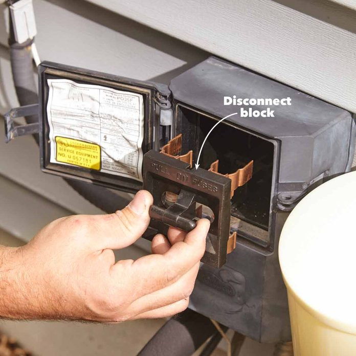 air conditioning service shut off the power