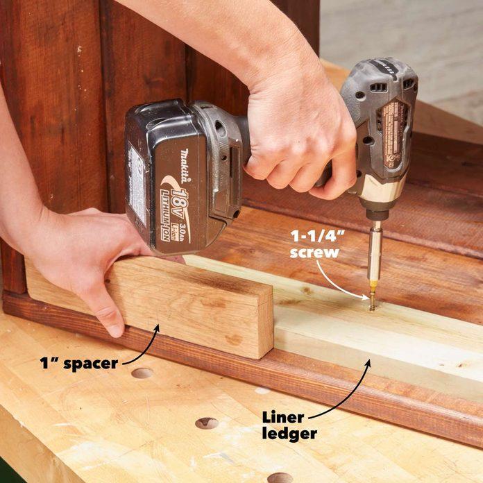 modern planter install the liner ledger