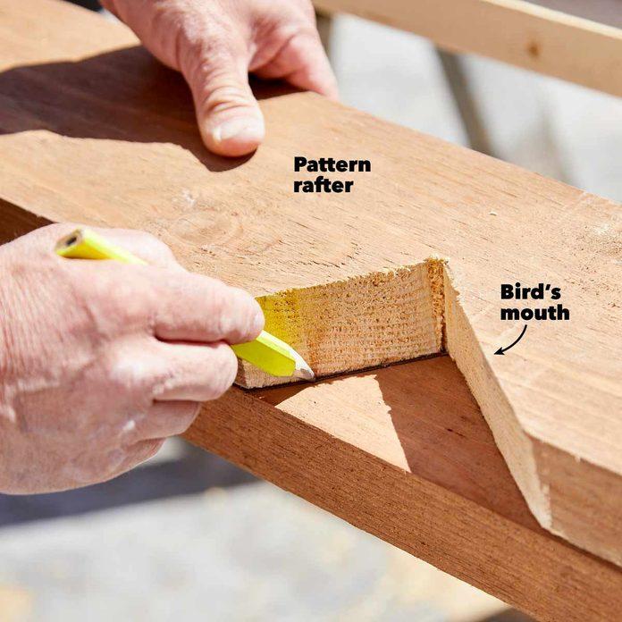 kitchen pavilion shed make a pattern rafter