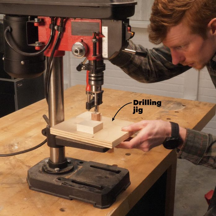 line up the drill jig wood puzzle cube