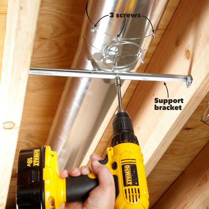 round ductwork installation support bracket