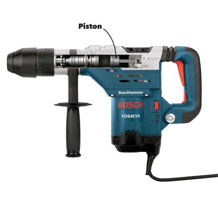 rotary vs hammer drill inside a rotary hammer drill