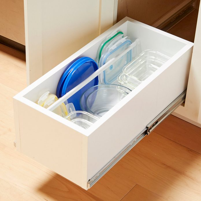HH food storage containers organization