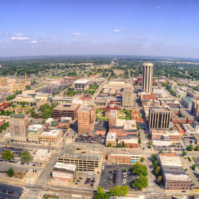 sky view shot of Springfield, Illinois