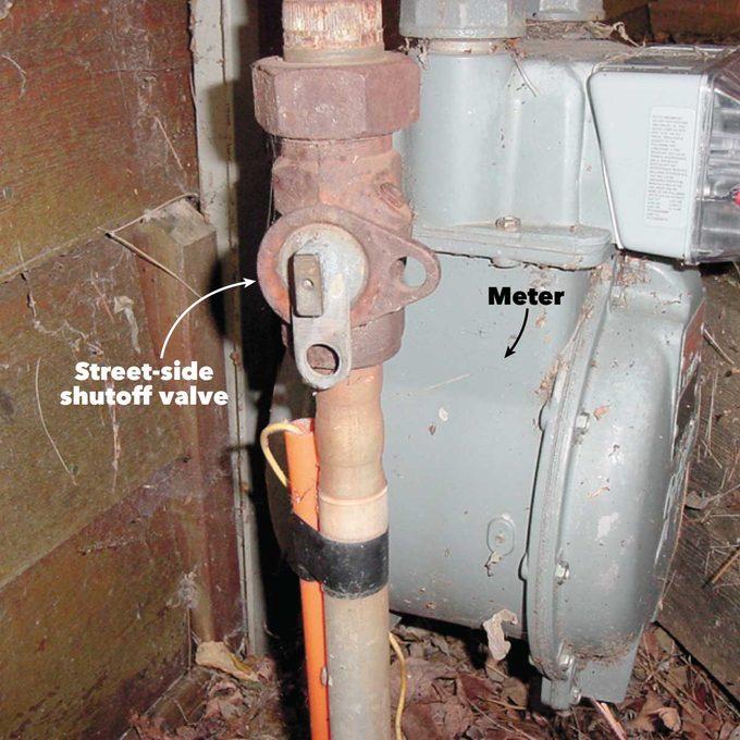 street side shutoff valve