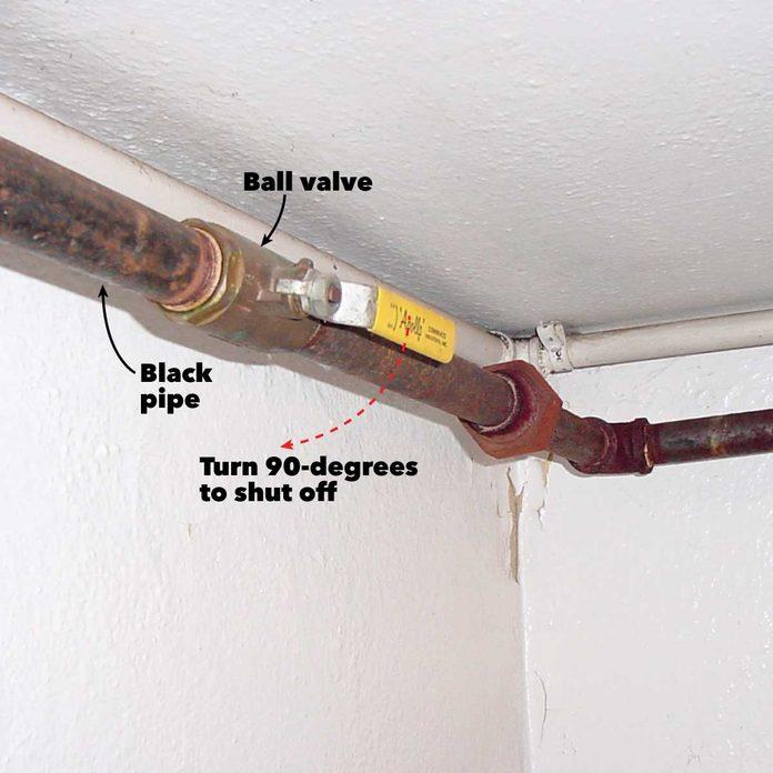 house side gas shutoff valve