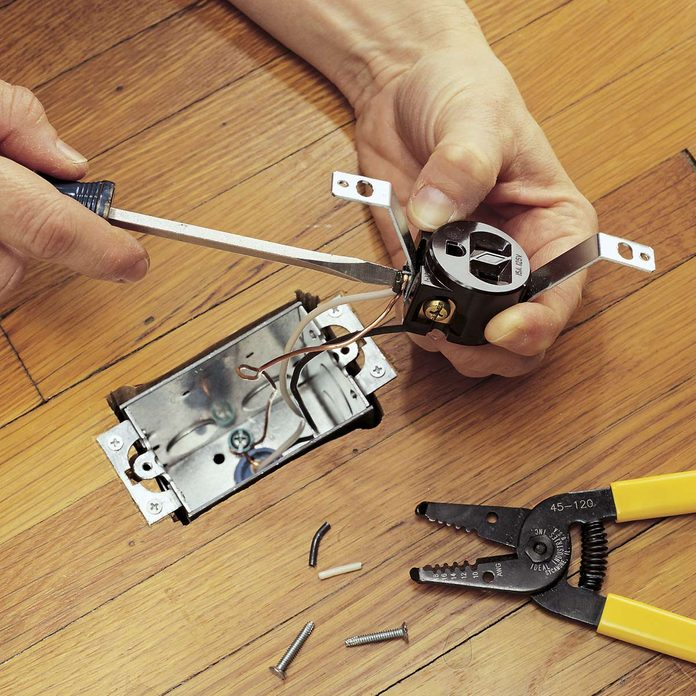 install floor outlet