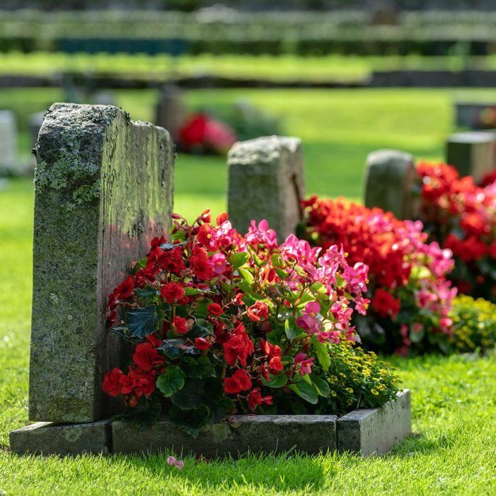 Headstone-in-a-cemetery