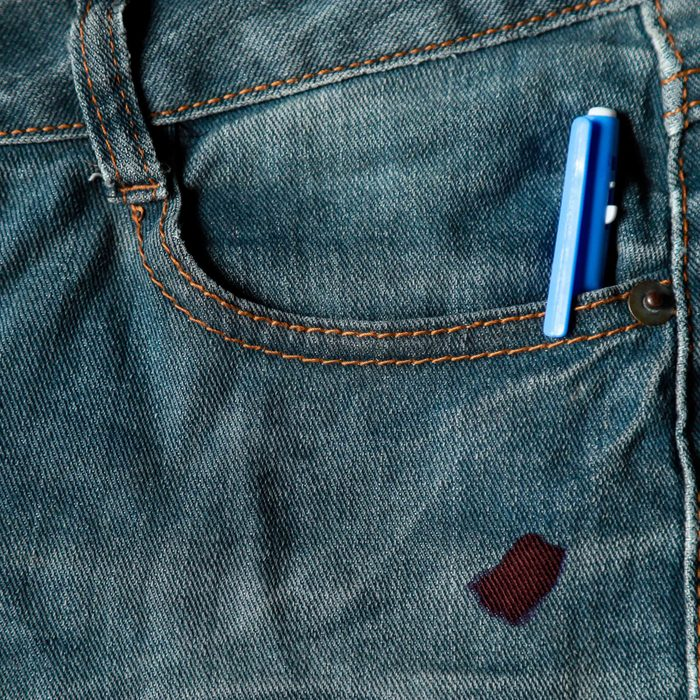 how to remove ink from clothes
