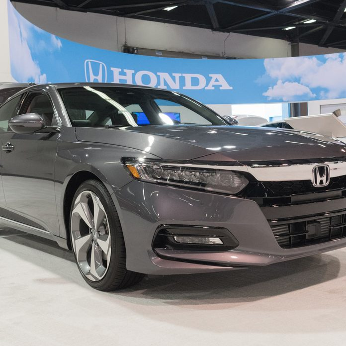 Honda Accord on display at the Orange County International Auto Show.