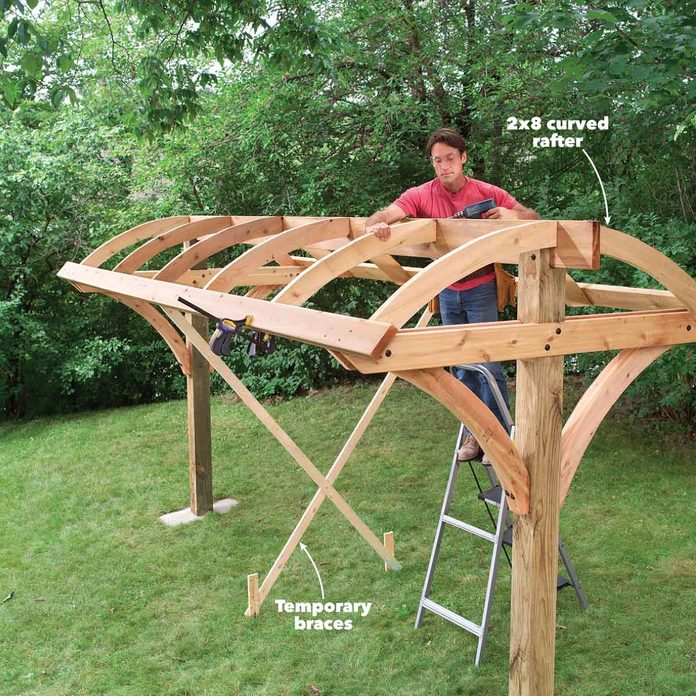 hammock rafters attach curved rafters