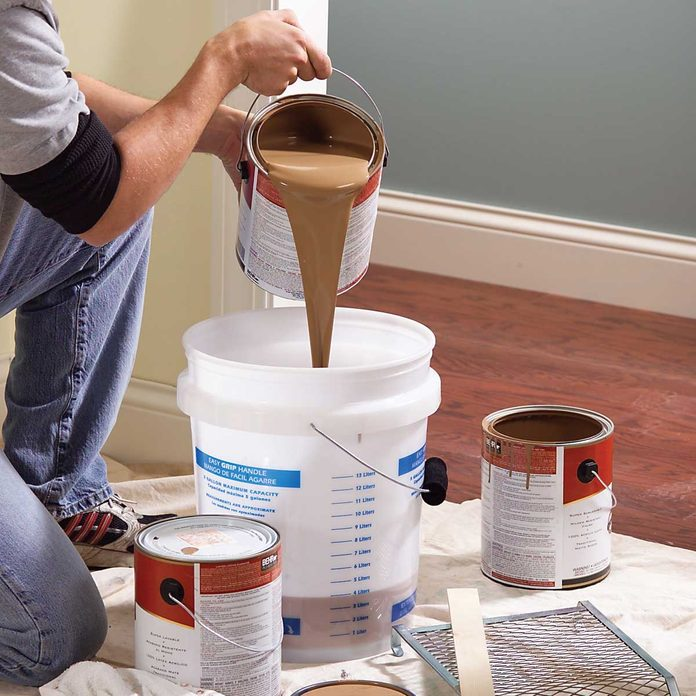 interior painting tips mix several cans
