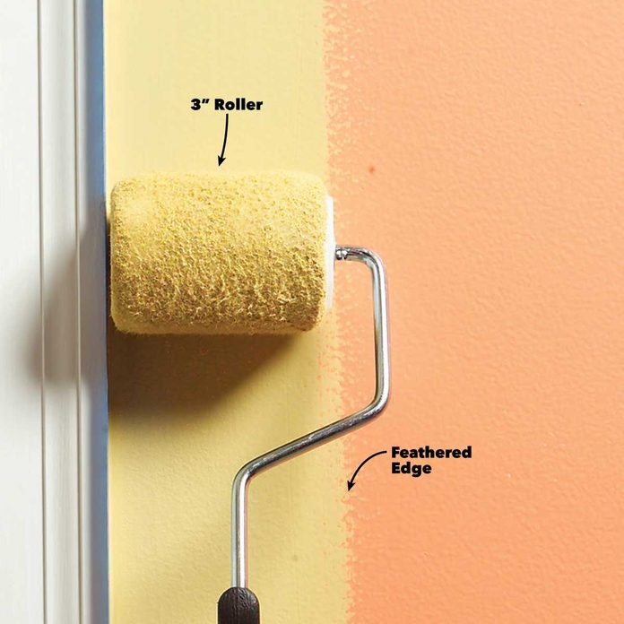 interior painting tips roll along edges