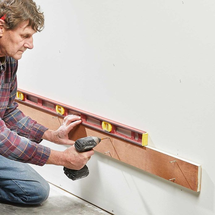 french cleat tool wall temporary ledger