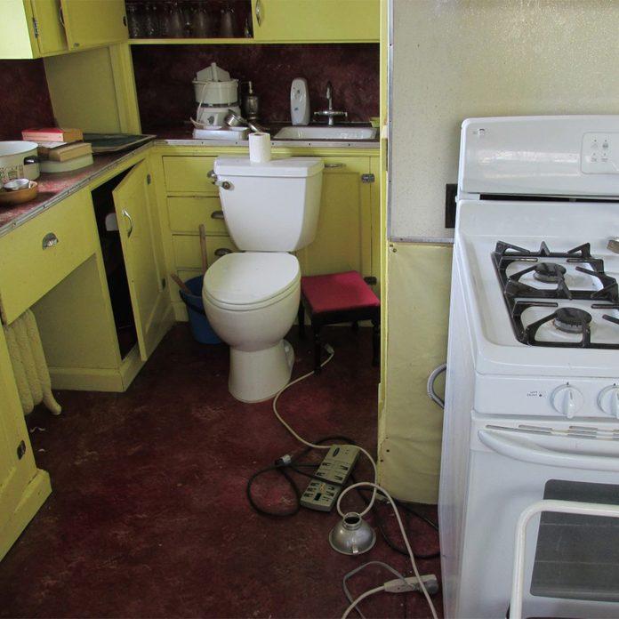 toilet in the kitchen