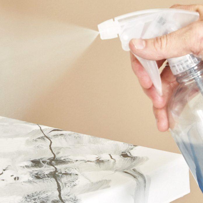 spray on alcohol to epoxy countertop