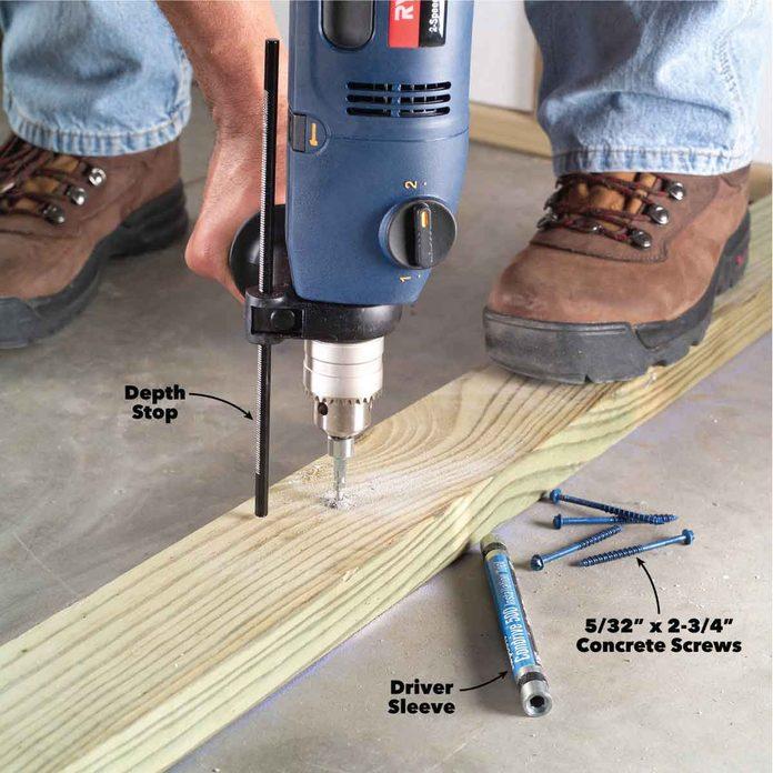 drilling concrete fasteners hammer drill