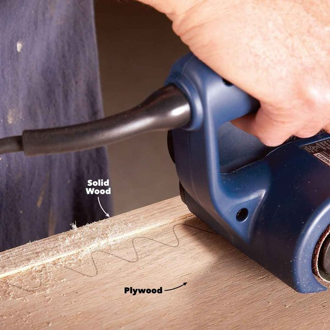 belt sander watch out on plywood