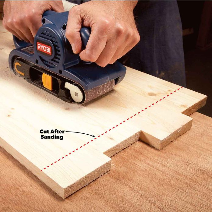 belt sander trim after sanding