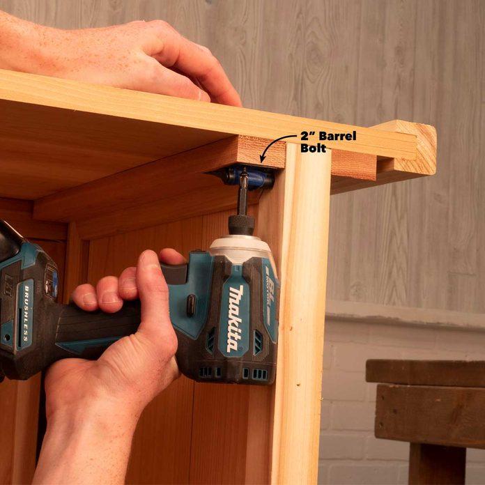 folding outdoor bar add hardware