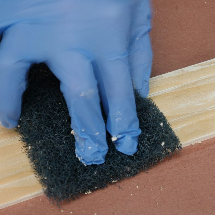 remove paint from wood scrub paint