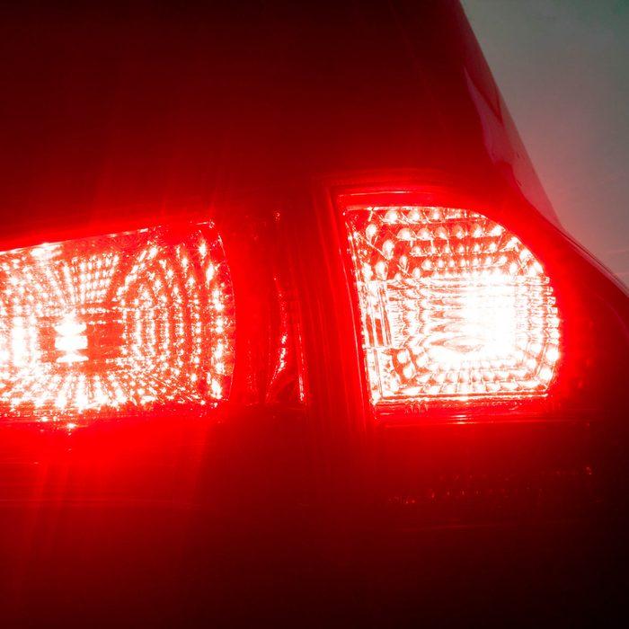 car brake light illuminated