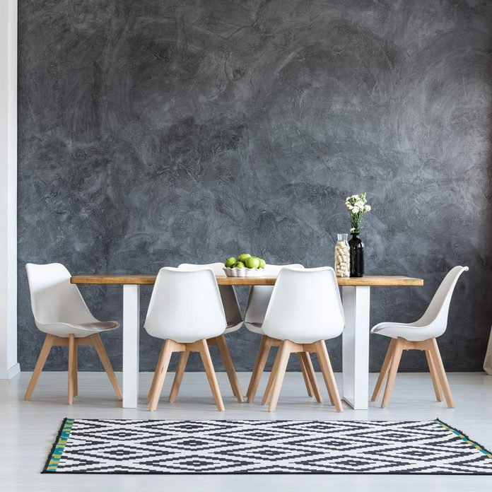 modern dining room feature wall