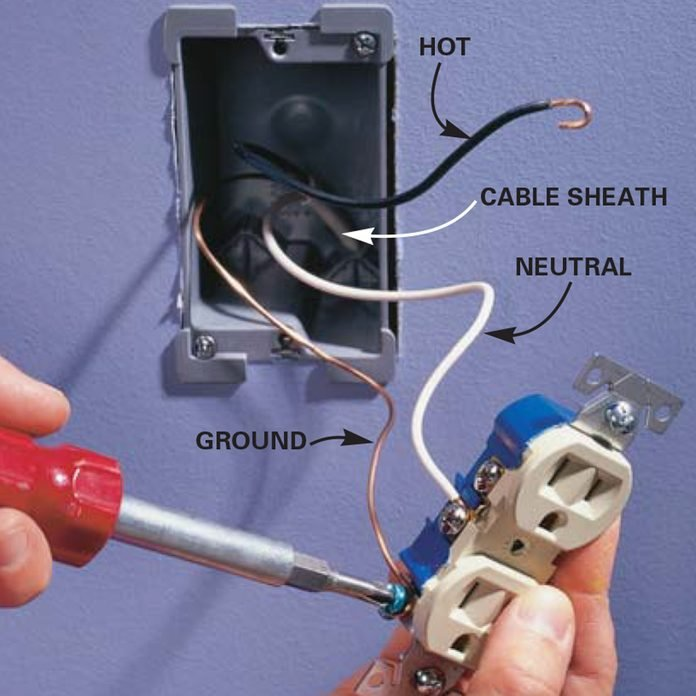 Wire the new electrical outlet