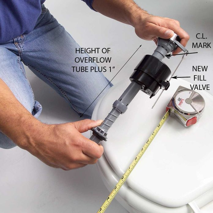 Twist the Top of the New Valve to Adjust the Height