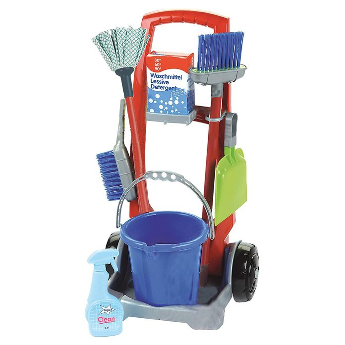 toy cleaning supplies cart