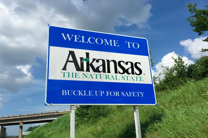 Arkansas Welcome Sign