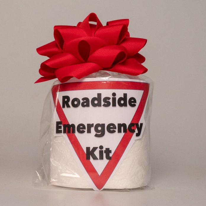 roadside emergency kit white elephant gift