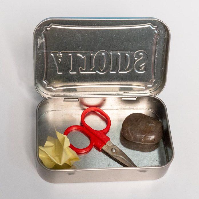 portable decisions making kit rock paper scissors white elephant gift