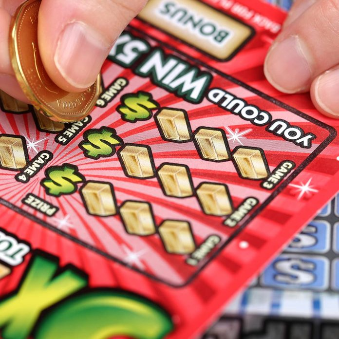 Scratching lottery tickets